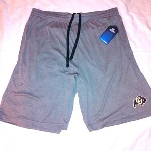 Colorado Buffaloes Athletic dry Fit Shorts New w t